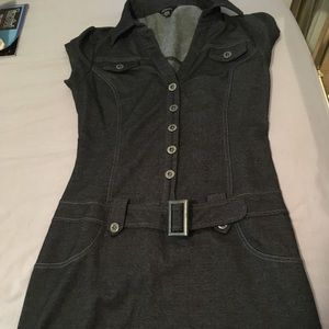 Guess fitted mini denim style dress